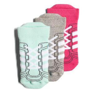 adidas 3 Pair Girl's Ankle Socks DJ2302