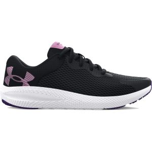 Under Armour Girl's Grade School Charged Pursuit 2 Big Logo Running Shoes 3024487-001