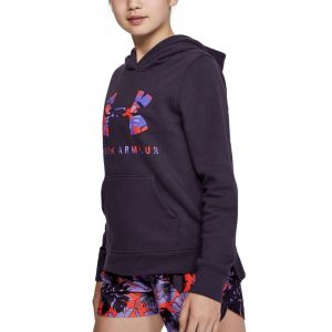 Under Armour Rival Print Fill Logo Girl's Hoodie 1343622-595