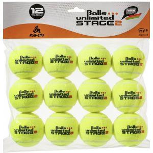 Topspin Unlimited Stage-2 Tournament Junior Tennis Balls x12 TOBUST2T12ER