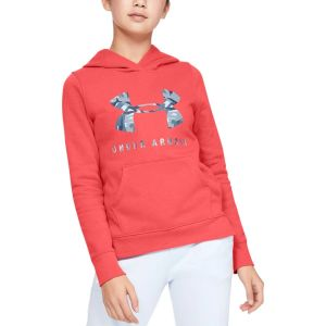 Under Armour Rival Print Fill Logo Girl's Hoodie 1343622-843