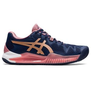 Asics Gel Resolution 8 Clay Women's Tennis Shoes 1042A070-404
