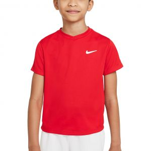 NikeCourt Dri-FIT Victory Big Kids' Short-Sleeve Tennis Top CV7565-657
