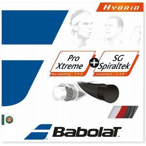 Babolat Hybrid Pro Xtreme & SG Spiraltek Tennis String 281035