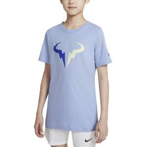 NikeCourt Dri-FIT Rafa Big Kids' Tennis T-Shirt DJ2591-468
