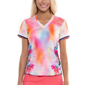Lucky In Love Techno Tropic Short Sleeve Women's Top  CT772-E74675