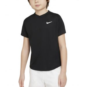 NikeCourt Dri-FIT Victory Big Kids' Short-Sleeve Tennis Top CV7565-010