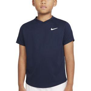 NikeCourt Dri-FIT Victory Big Kids' Short-Sleeve Tennis Top CV7565-451