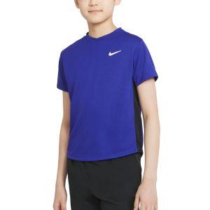 NikeCourt Dri-FIT Victory Big Kids' Short-Sleeve Tennis Top CV7565-471