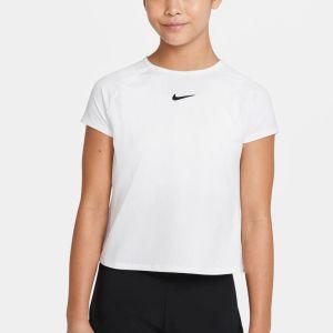 NikeCourt Dri-FIT Victory Girls' Short-Sleeve Tennis Top CV7567-101