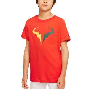 NikeCourt Dri-FIT Rafa Big Kids' Tennis T-Shirt DJ2591-673