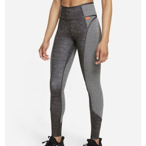 Nike Dri-FIT One Luxe Women's Mid-Rise Heathered Leggings DD4553-010