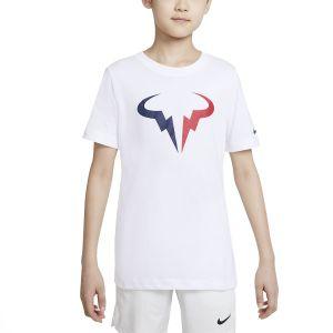 NikeCourt Dri-FIT Rafa Big Kids' Tennis T-Shirt DJ2591-100