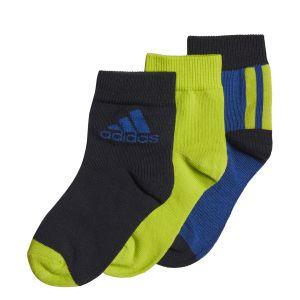 adidas 3 Pairs Kid's Ankle Socks x 3 GE3323