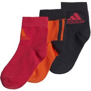 adidas 3 Pairs Kid's Ankle Socks x 3 GE3324