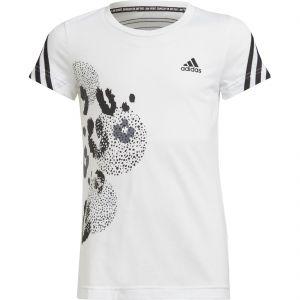 adidas 3-Stripes Graphic Girls' Tennis T-Shirt H26605