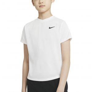 NikeCourt Dri-FIT Victory Big Kids' Short-Sleeve Tennis Top CV7565-100