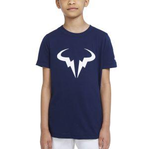 NikeCourt Dri-FIT Rafa Big Kids' Tennis T-Shirt DJ2591-451