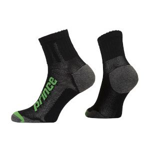 Prince Uni Quarter Squash Socks PR00928-BKGR