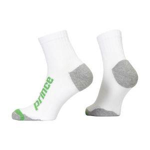 Prince Uni Quarter Squash Socks PR00928-WHGR
