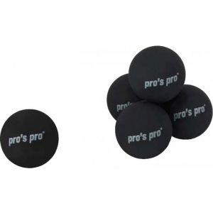 Pro's Pro Squash balls 1 yellow dot B030a