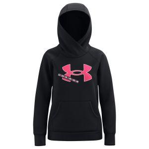 Under Armour Girl's Rival Fleece Logo Hoodie 1366046-001