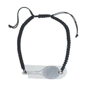 Racquet Bracelet RACQUET-BRACELET-SI-BK