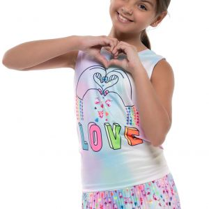 Lucky In Love Animoji Love Tie Back Girls' Tank T211-E92955