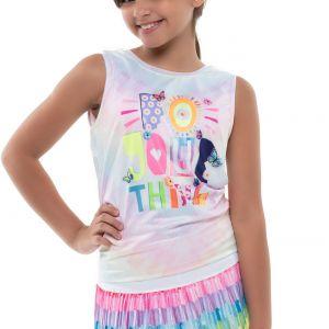 Lucky In Love Crafty Scribble Tie Back Girls' Tank T211-E93955