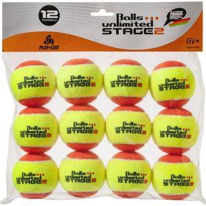Topspin Unlimited Stage-2 Junior Tennis Balls x 12 TOBUST212ER