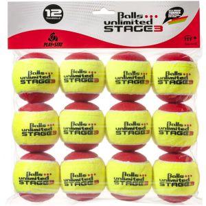 Topspin Unlimited Stage 3 Junior Tennis Balls x 12 TOBUST312ER