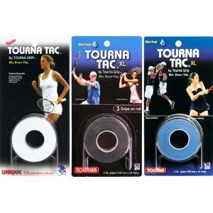 Tourna Tac Tennis Overgrips XL x 3 U-TG-2-XLW