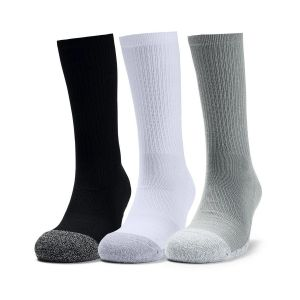 Under Armour Heatgear Tech Crew Sport Socks x 3 1346751-035