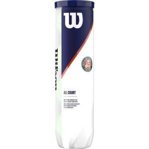 Wilson Roland Garros All Court Tennis Balls x 4 WRT116400