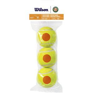 Wilson Roland Garros Starter Orange Junior Tennis Balls x 3