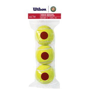 Wilson Roland Garros Starter Red Junior Tennis Balls x 3 WRT147600