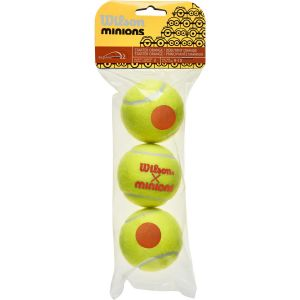 Wilson Minions Stage 2 Junior Tennis Balls x 3