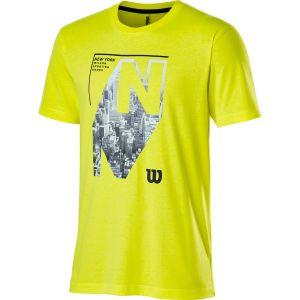 Wilson NYC Aerial Tech Men's Tennis Tee WRA802302