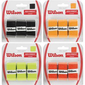 Wilson Pro Soft Tennis Overgrips x 3 WRZ4040