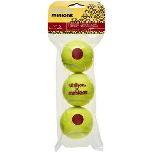 Wilson Minions Stage 3 Junior Tennis Balls x 3 WR8202701