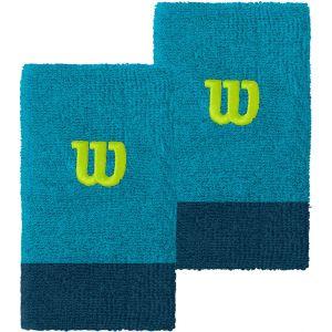 Wilson Extra Wide Tennis Wristbands x 2 WRA733523