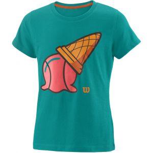 Wilson Inverted Cone Tech Girls' Tennis T-Shirt  WRA793702