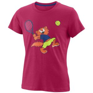 Wilson Tabby Tech Girl's Tennis T-Shirt WRA793801