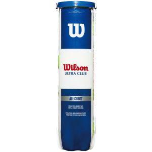 Wilson Ultra Club All Court Tennis Balls x 4 WRT116000