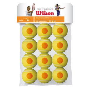 Wilson Starter Orange Junior Tennis Balls x 12 WRT137200