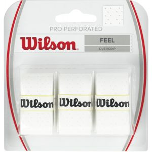 Wilson Pro Overgrips Perforated x 3 WRZ4005WH