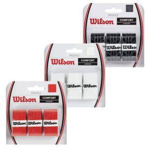Wilson Profile Tennis Overgrips x 3 WRZ4025